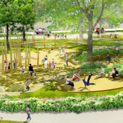 Franklin Park Renewal Render - Playground