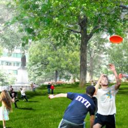 Franklin Park Renewal Render - Playing Frisbee
